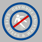 safe step and walking forward